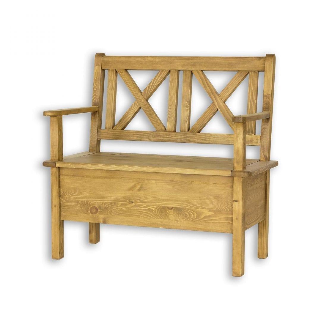 Drewniana ławka z podłokietnikami SIL13/B