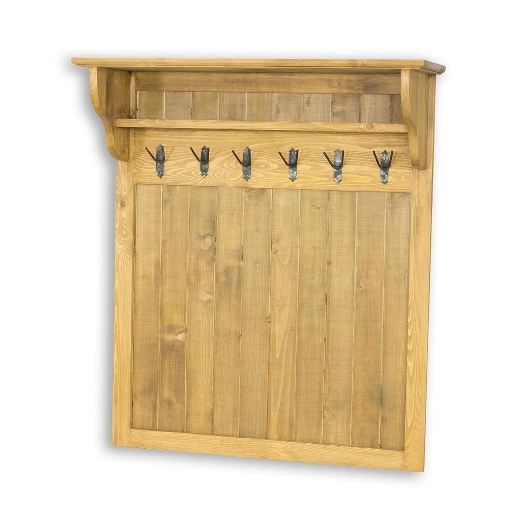 Drewniany wieszak na ubrania GAB03