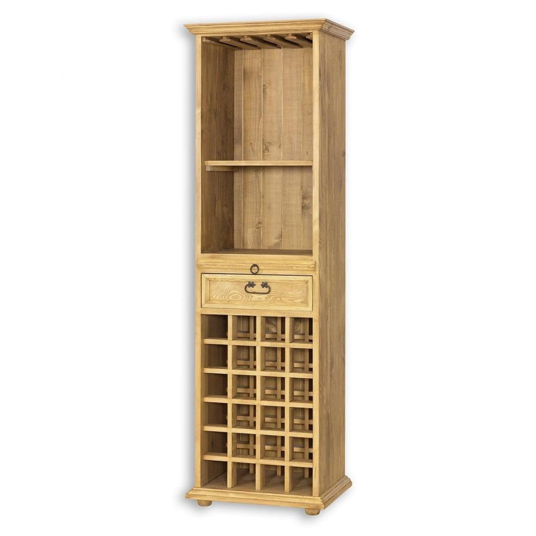 Drewniana witryna na wino VIT14