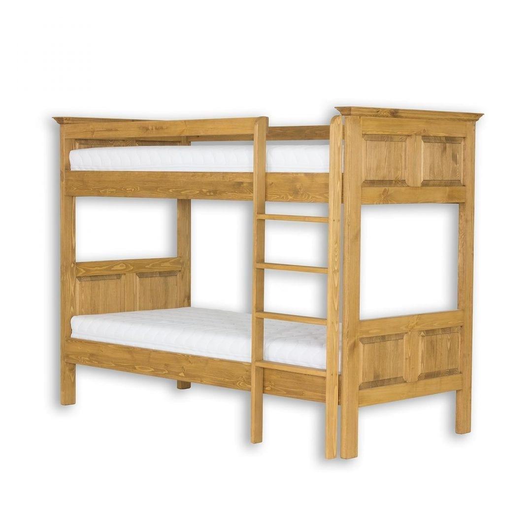 Drewniane łóżko piętrowe ACC07