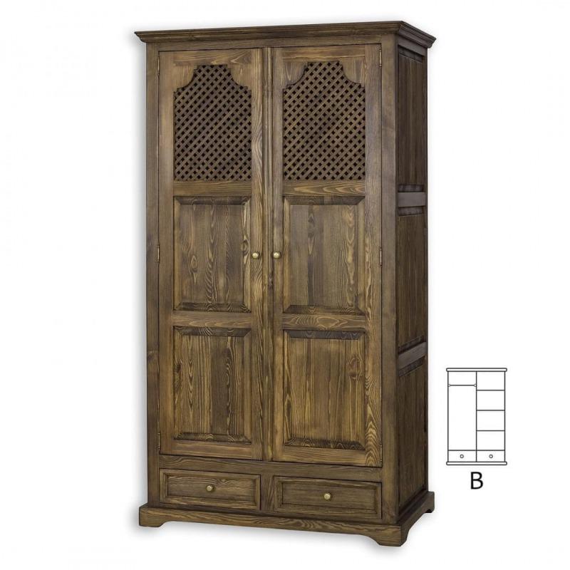 Drewniana szafa woskowana SZY07/B