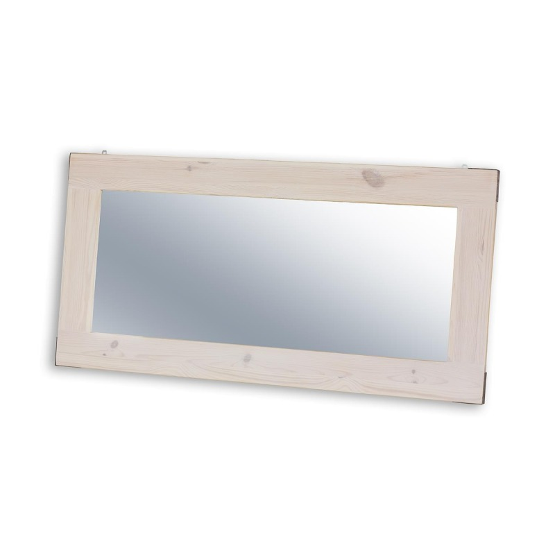 Bielone lustro z drewna SEL22 - STEEL