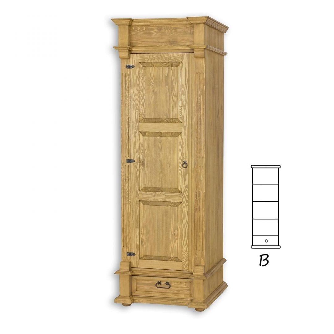Szafa drewniana z półkami SZY05/B