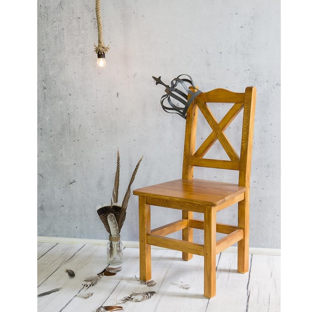 Krzesło kuchenne woskowane