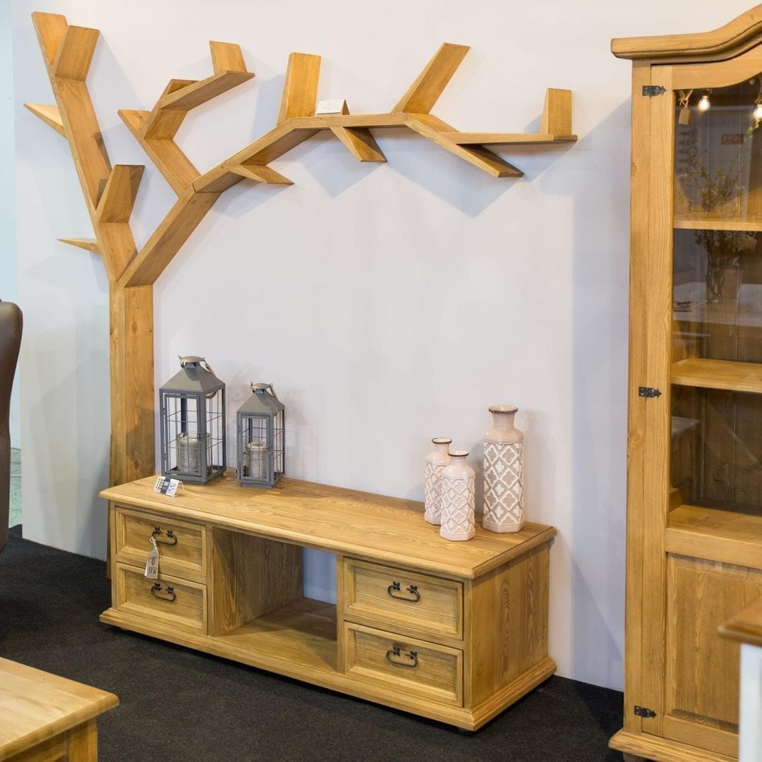 Drewniana półka drzewko COS17