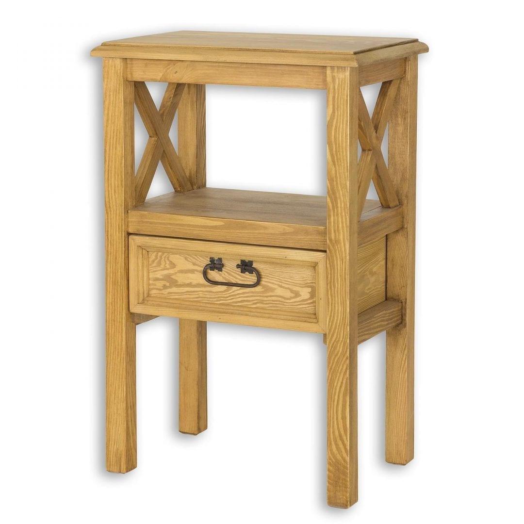 Drewniany stolik nocny MES15