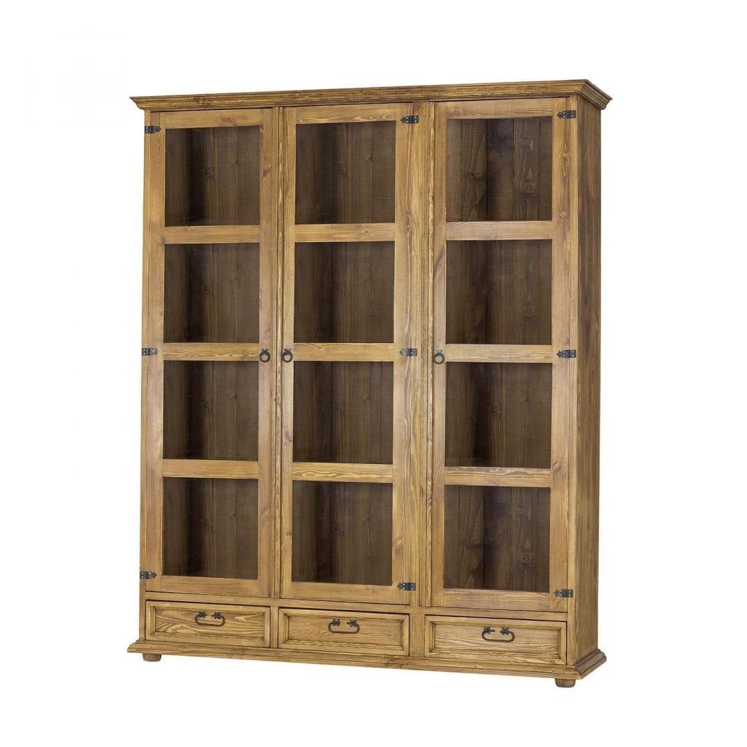 Witryna trzydrzwiowa z drewna VIT108/1 SLIM